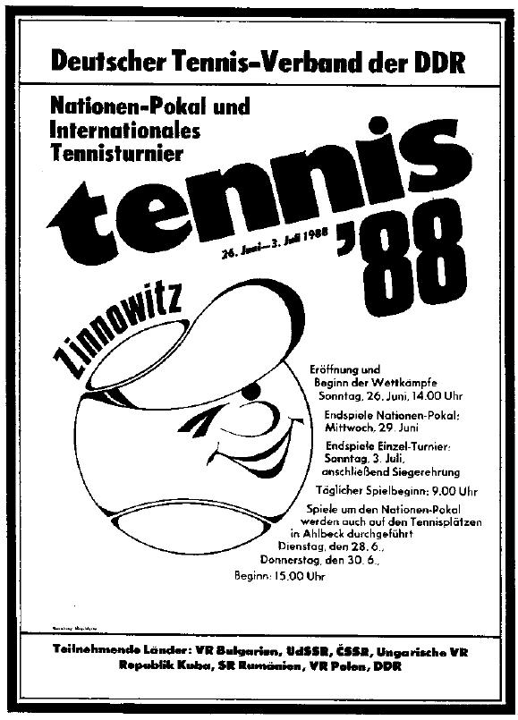 Tennis in der DDR, Internationales Tennisturnier, Tennistrainer, Dresden